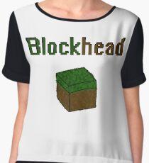 Blockhead voxel cube Chiffon Top