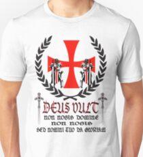 Knights Templar  Deus Vult  T-Shirt