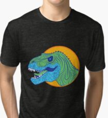 Vector Dinosaur Tri-blend T-Shirt