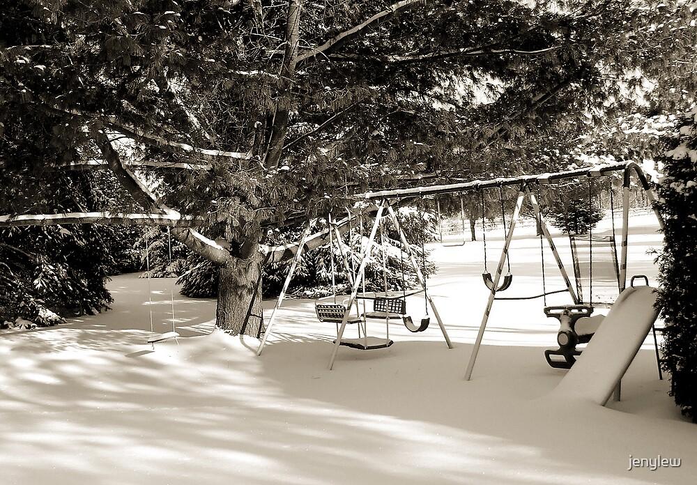 Swingset in hibernation by jenylew