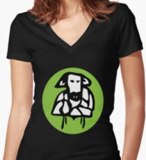 A Cow Women's Fitted V-Neck T-Shirt