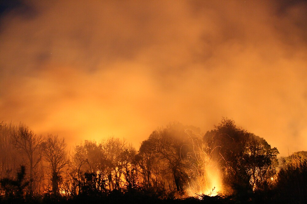 Bushfire by George Town by anobleperson