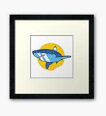 Vector Shark Framed Print