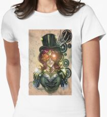 steampunk tophat Women's Fitted T-Shirt