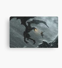 Skyrim - Dragonslayer Canvas Print