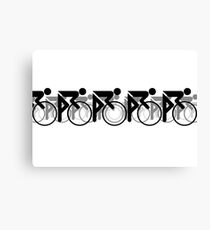 The Bicycle Race 2 Black Canvas Print