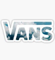Vans Logo Sky Sticker