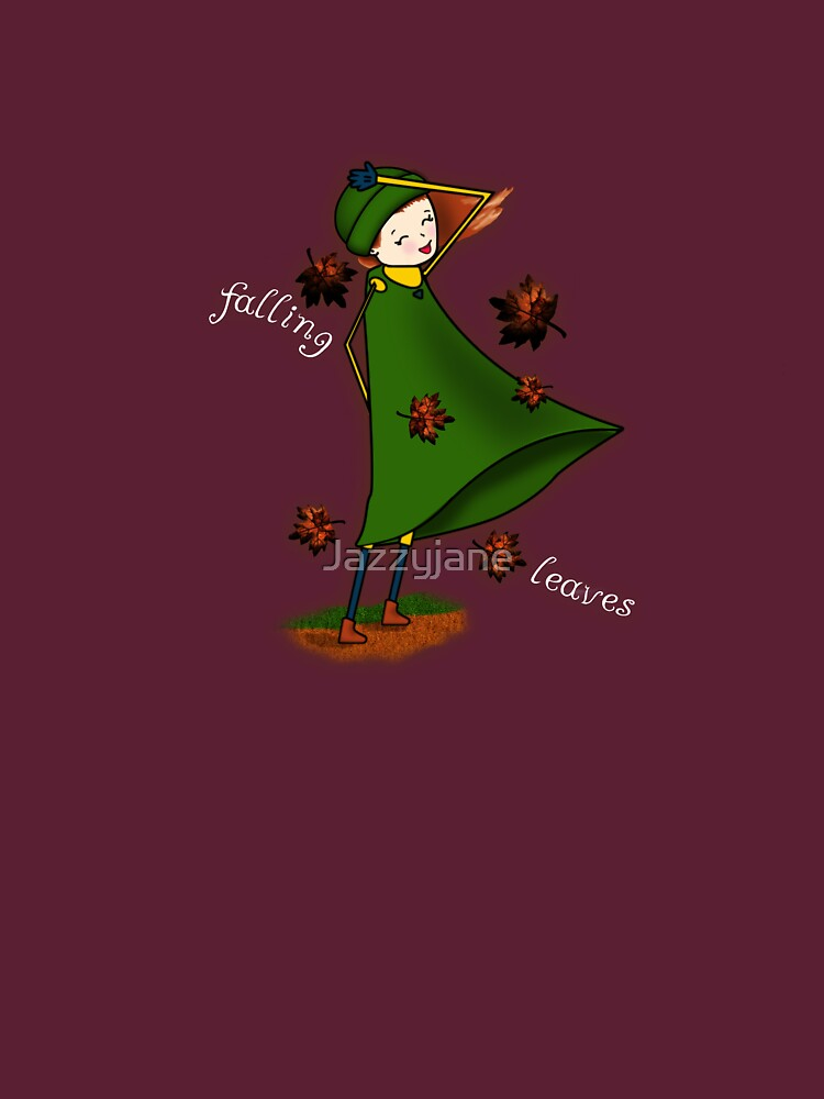 Falling leaves (white text) by Jazzyjane