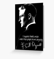 F. Scott Fitzgerald Design Greeting Card