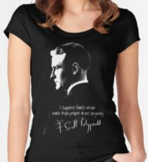 F. Scott Fitzgerald Design Women's Fitted Scoop T-Shirt