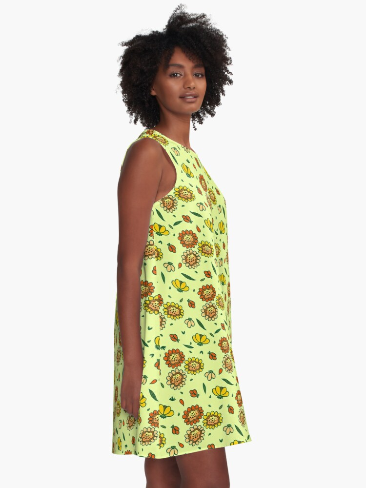 Alternate view of Cute Floral A-Line Dress