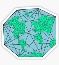 Geometric World Sticker