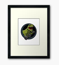 big guns black backing Framed Print