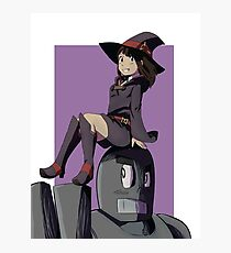 Little Witch and a RoboMan Photographic Print