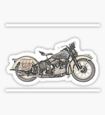 1936 Harley Davidson Motorcycle Sticker