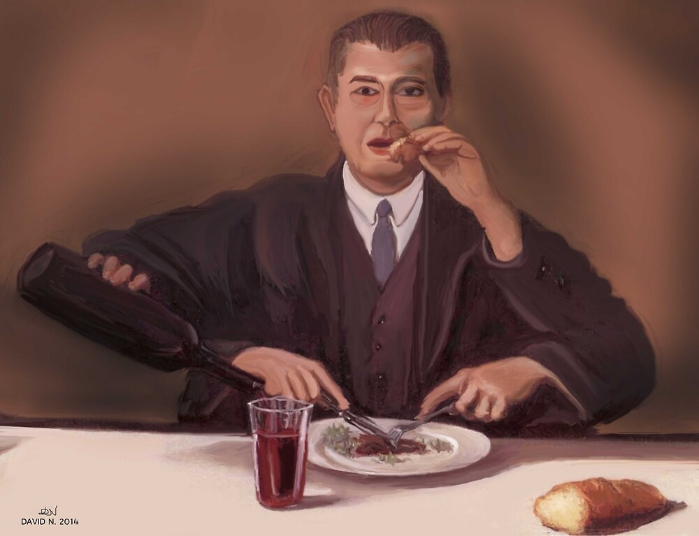 Rene Magritte- self portrait by Nornberg77
