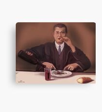 Rene Magritte- self portrait Canvas Print