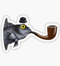 Magritte Fish Sticker
