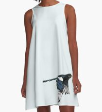 Yellow Billed Magpie A-Line Dress