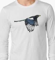 Yellow Billed Magpie Long Sleeve T-Shirt