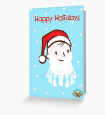 #HugsForNoah Santa Happy Holidays Greeting Card