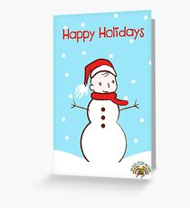 #HugsForNoah Snowman Happy Holidays Greeting Card