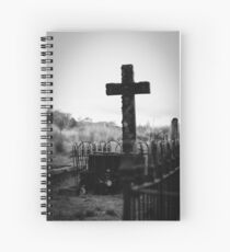 Gravesite at Waratah Tasmania  Spiral Notebook