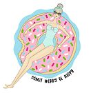 Donut Worry Be Happy Blonde by tentyn