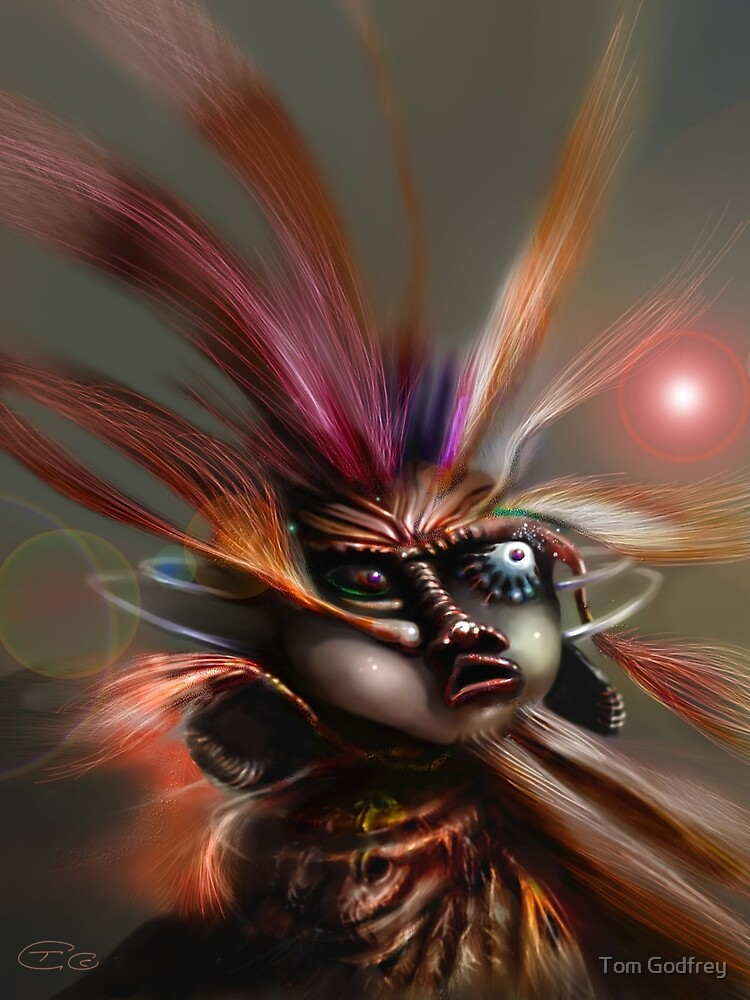 Startled Witchdoctor by Tom Godfrey
