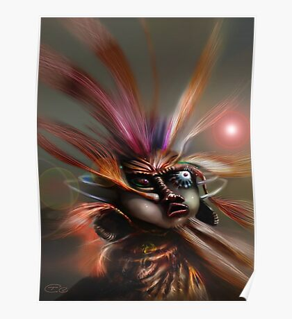 Startled Witchdoctor Poster