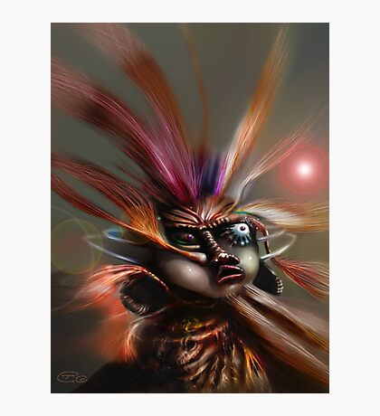 Startled Witchdoctor Photographic Print