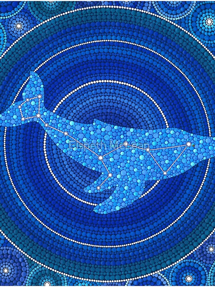 Cetus (Wal) Sternbild Mandala von ElspethMcLean