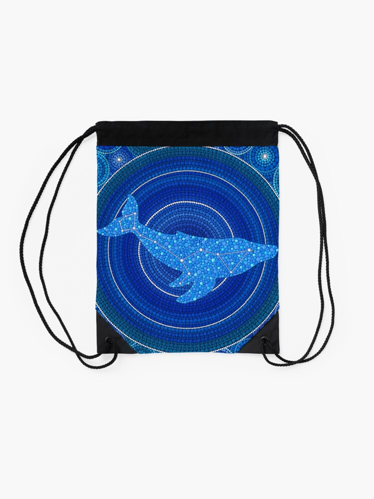 Alternative Ansicht von Cetus (Wal) Sternbild Mandala Turnbeutel