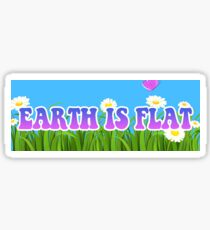 Earth is Flat - Flower Design Flat Earth Sticker