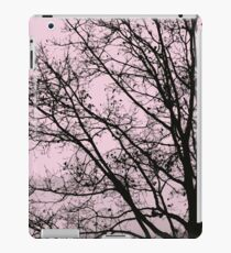 Fall Tree Silhouette Vector Pink iPad Case/Skin