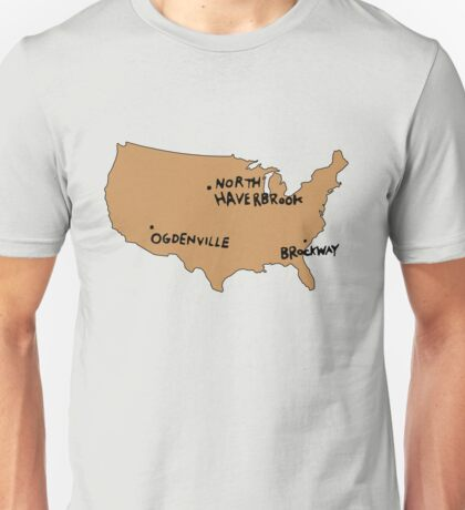 Ogdenville, North Haverbrook and Brockway Unisex T-Shirt