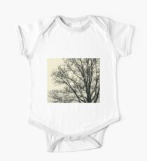Fall Tree Silhouette Vector Yellow One Piece - Short Sleeve