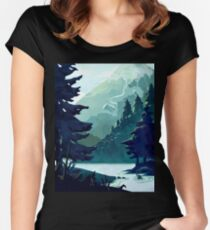Canadian Mountain Women's Fitted Scoop T-Shirt