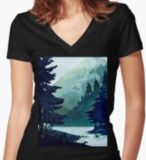 Canadian Mountain Women's Fitted V-Neck T-Shirt
