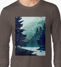 Canadian Mountain Long Sleeve T-Shirt
