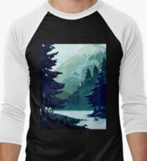 Canadian Mountain Men's Baseball ¾ T-Shirt