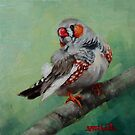 Zebra Finch Miniature by Margaret Stockdale