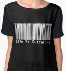 BarCodes - Life Is Suffering INVERTED Chiffon Top