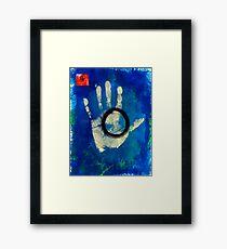 Health Hand Print Framed Print