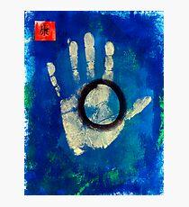 Health Hand Print Photographic Print