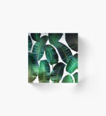 Cosmic Banana Leaves #redbubble #lifestyle Acrylic Block