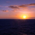 Sunset over the South Pacific Ocean by Mark Richards