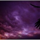 Stormy Sunset Triptych by Mark Greenmantle