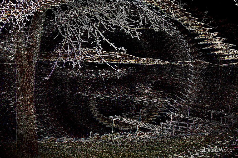 Flathead Lake Neon Illusion by Dean Warwick