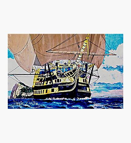 My acrylic painting of HMS Victory en route to the Battle of Trafalgar Photographic Print
